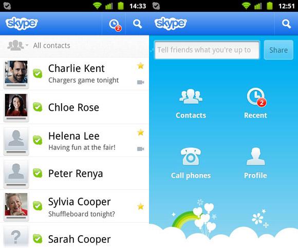 программа скайп для андроида